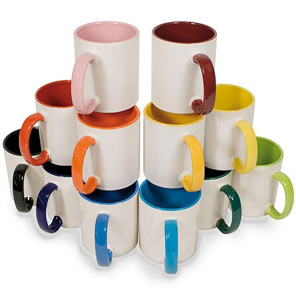 چاپ روی لیوان دسته رنگی
