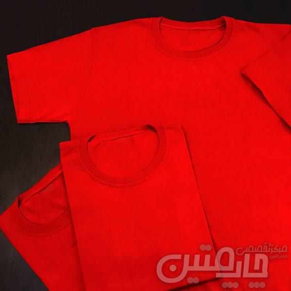 چاپ روی تیشرت قرمز