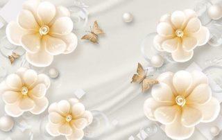 پوستر دیواری گل هنری
